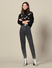 Pullover Con Macchie Leopardate : Maglieria & Cardigan colore Nero