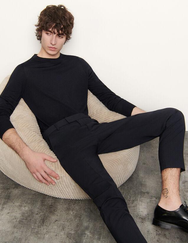 Pullover in lana merino : Maglioni & Cardigan colore Blu Marino