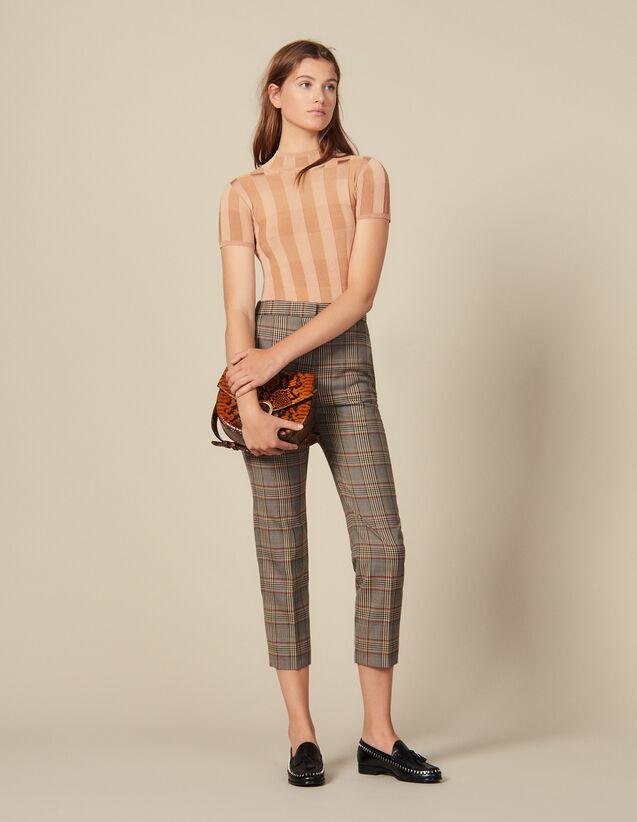 Pantaloni Dritti A Quadri : Novità colore Multicolore
