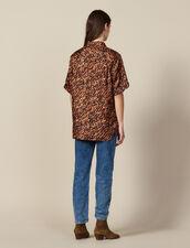 Camicia Stampata In Twill Di Seta : FBlackFriday-FR-FSelection-Tops&Chemises colore Brown
