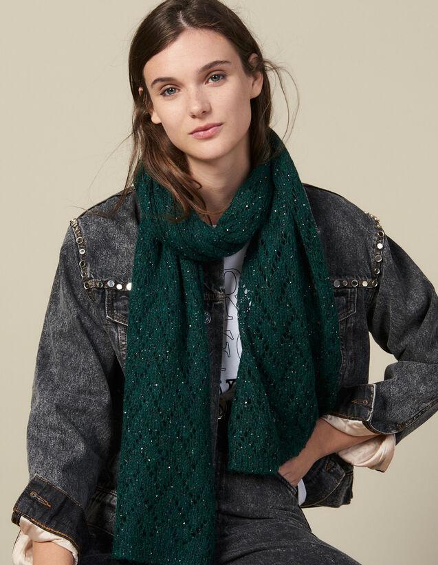 Sciarpa Con Paillette : L'intera collezione Invernale colore Verde Abete