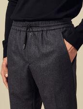 Pantaloni Con Elastico In Vita : -30% colore Grigio Screziato