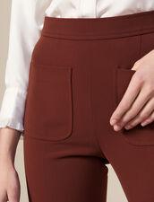 Pantaloni da tailleur svasati : Pantaloni colore Tabacco