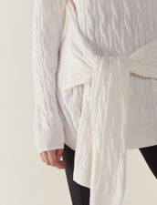 Pullover In Maglia Intrecciata : null colore Ecru