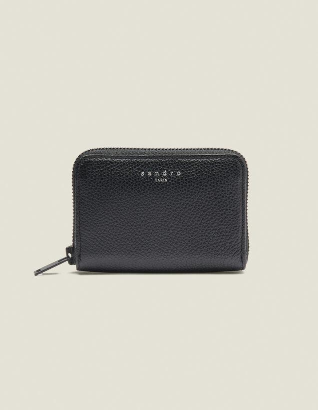 Porta Carte Con Zip : Collezione Inverno colore Nero
