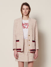 Giacca-Gilet In Tweed : null colore Rosa