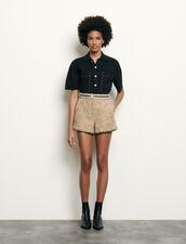 Short in tweed : Gonne & Short colore Beige