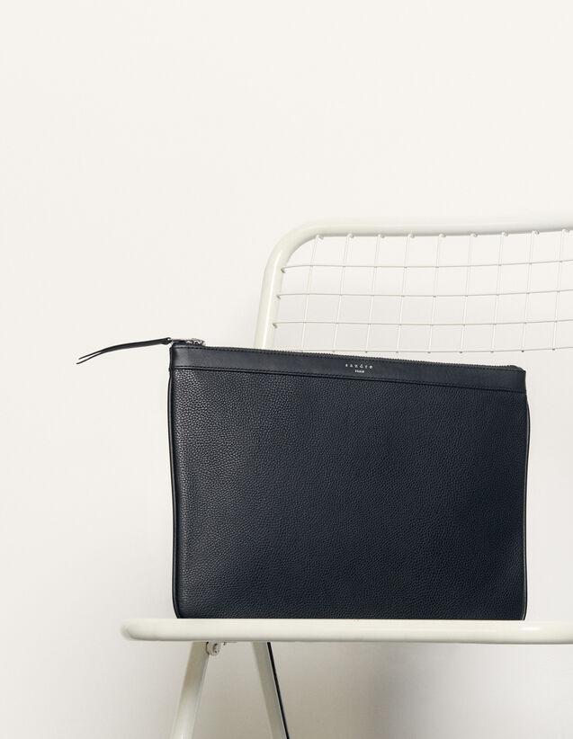 Pochette Con Zip : Tutta la Pelletteria colore Nero
