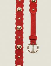 Cintura In Pelle Con Decorazioni : null colore Rosso