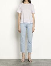 T-shirt in lino con retro plissettato : Magliette colore Parma