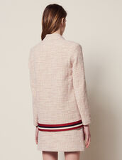 Giacca-Gilet In Tweed : Giacche & Giubbotti colore Rosa
