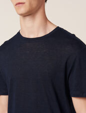 T-Shirt In Lino : Magliette & Polo colore Blu Marino