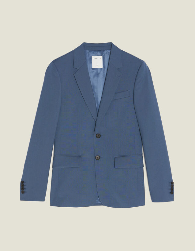 Giacca Da Completo In Lana : Sélection Last Chance colore Grigio blu
