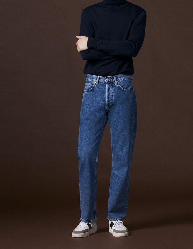 Jeans blu linea dritta : Tutta la Selezione colore Blue Vintage - Denim