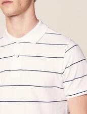 Polo In Piqué Di Cotone : Sélection Last Chance colore Bianco