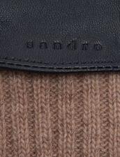 Guanti In Pelle Con Polsino : L'intera collezione Invernale colore Marrone scuro