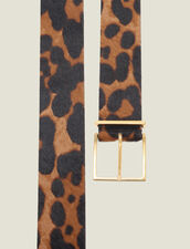 Cintura In Pelle Cavallino Stampata : Cinture colore Leopardo