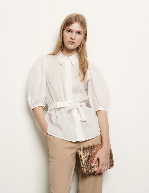 Camicia con cintura rimovibile : Collezione Estiva colore Ecru