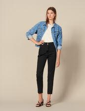 Pantaloni affusolati a baschina : FBlackFriday-FR-FSelection-Pantalons&Jeans colore Nero