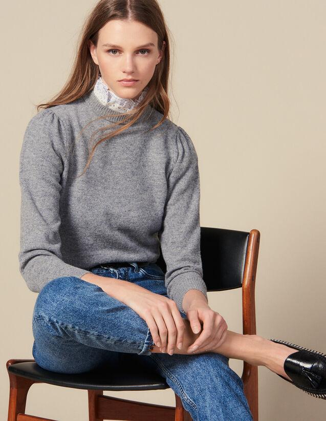 Pullover Con Collo Riportato : Maglieria & Cardigan colore Grigio Chiaro
