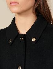 Manteau En Laine Avec Pressions : Manteaux couleur Noir