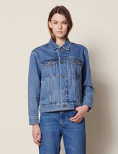 Giacca In Jeans Linea Maschile : null colore Blue Vintage - Denim