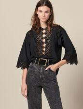 Top Con Inserti In Guipure : Top & Camicie colore Nero