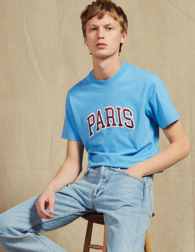 T-Shirt Con Scritta Applicata : Magliette & Polo colore Bianco