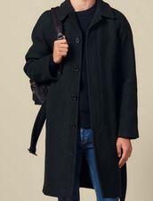Manteau Avec Ceinture : HCollectionHiver couleur Vert foncé