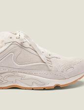 Sneaker Flame In Pelle : Sneaker colore Ecru
