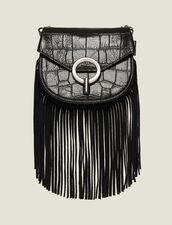 Borsa Pépita Piccola Con Frange : L'intera collezione Invernale colore Nero