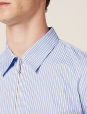 Camicia A Righe Con Zip : Sélection Last Chance colore Blu