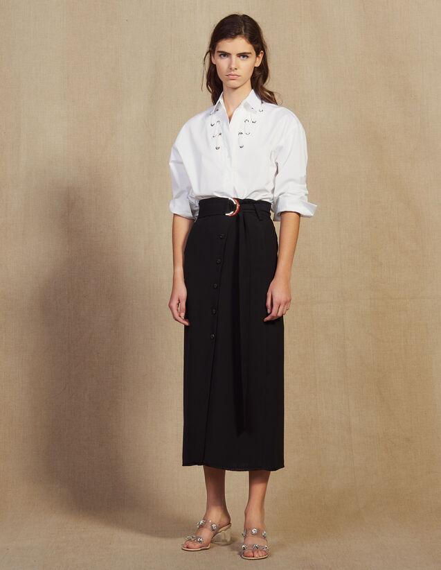 Gonna Lunga A Portafoglio : Gonne & Short colore Nero