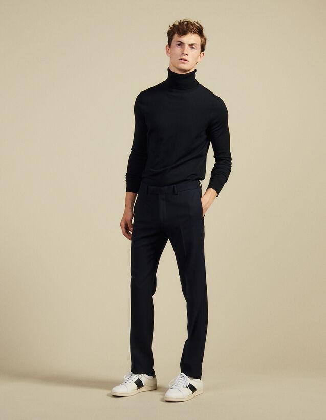 Pantaloni Da Completo : Abiti & Smoking colore Blu Marino