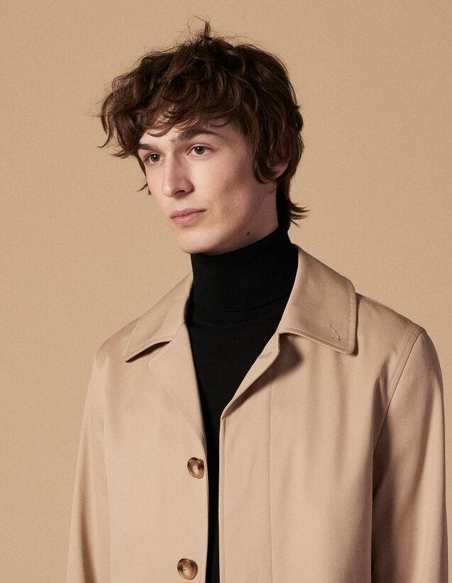 Impermeabile In Cotone : Trench & Cappotti colore Beige