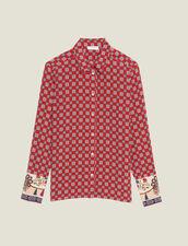 Camicia Stampata In Seta : Camicia stampata colore Rosso