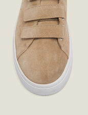 Sneaker In Pelle Con Chiusura Velcro : Tutte le Scarpe colore Sabbia