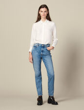 Jeans Dritti Délavé : Jeans colore Blue Vintage - Denim