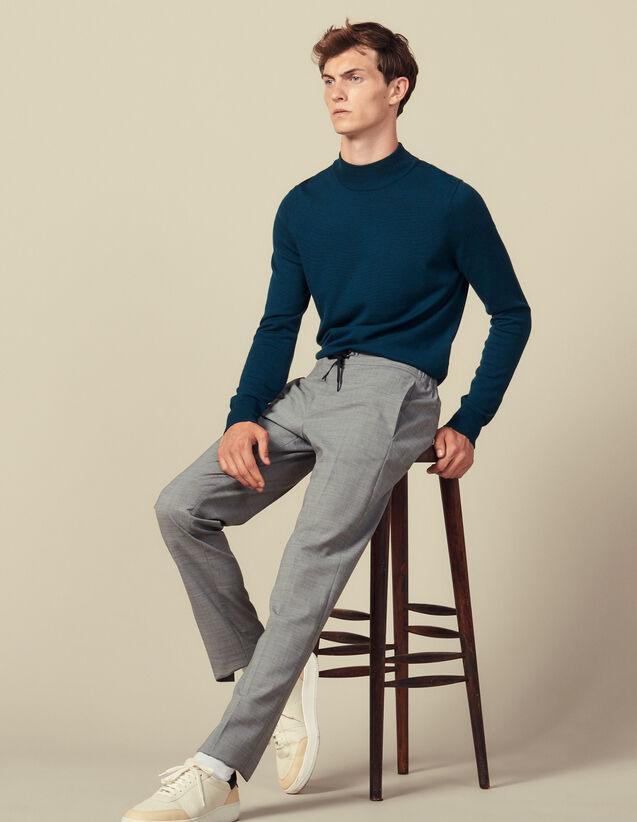 Pantalon avec un élastique à la taille : Pantalons & Shorts couleur Noir