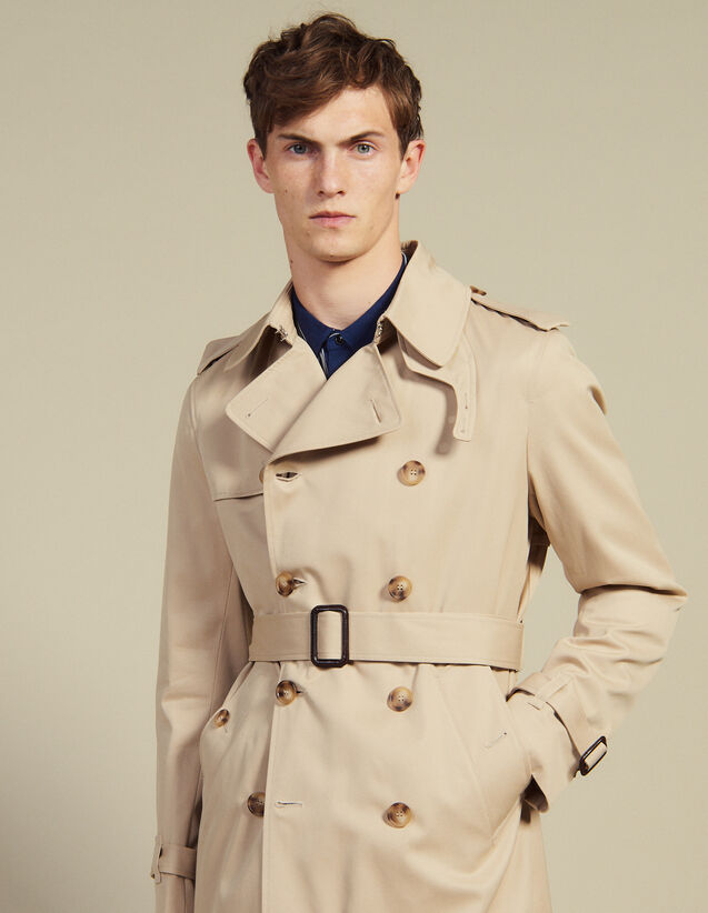Trench Con Cintura : Icons colore Beige