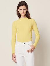 Pullover In Maglia Sottile : LastChance-FR-FSelection colore Giallo