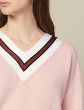 Pullover Con Righe A Contrasto : FBlackFriday-FR-FSelection-Pulls&Cardigans colore Rosa