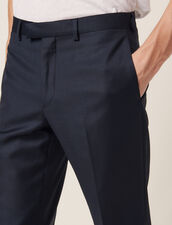 Pantaloni Da Completo In Lana : Abiti & Smoking colore Blu Petrolio