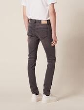 Jeans Destroy - Skinny : Sélection Last Chance colore Grigio
