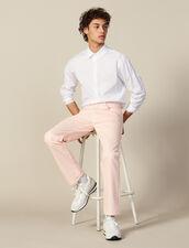 Jeans In Tela Di Cotone - Linea Dritta : Sélection Last Chance colore Rosa
