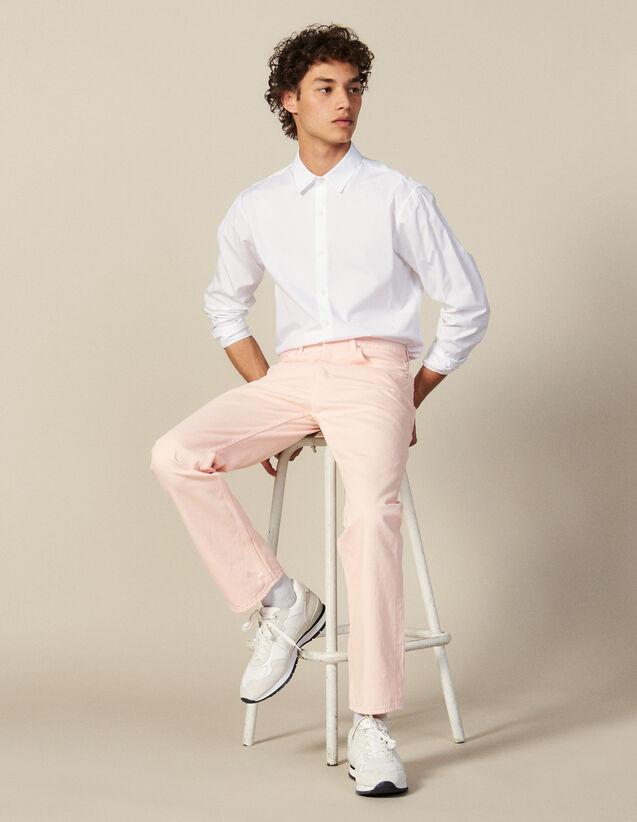 Jeans In Tela Di Cotone - Linea Dritta : Jeans colore Rosa