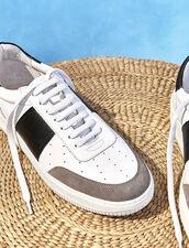 Sneaker In Pelle : Scarpe colore Bianco