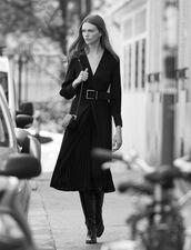 Robe longue drapée : LastChance-ES-F50 couleur Noir