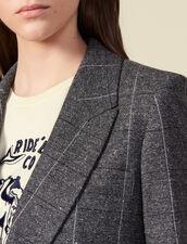 Giacca da tailleur a quadri : Giacche & Giubbotti colore Grigio