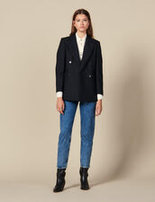 Blazer oversize a righe : FBlackFriday-FR-FSelection-Blousons&Manteaux colore Nero